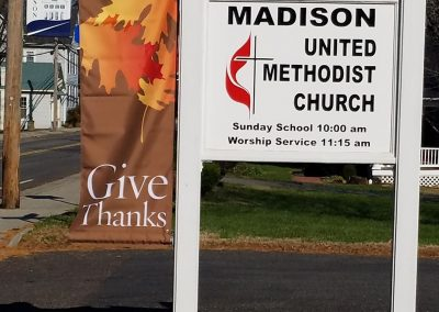 Sign at Madison UMC